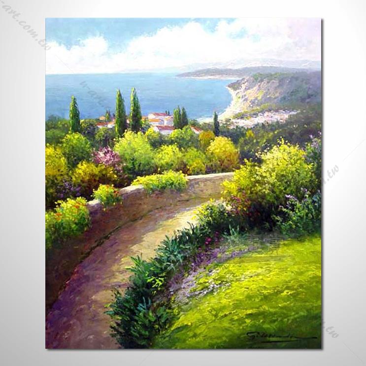 【花田景色风景油画】062 香气 乡村风景画 欧式印象油画 纯手绘 油画