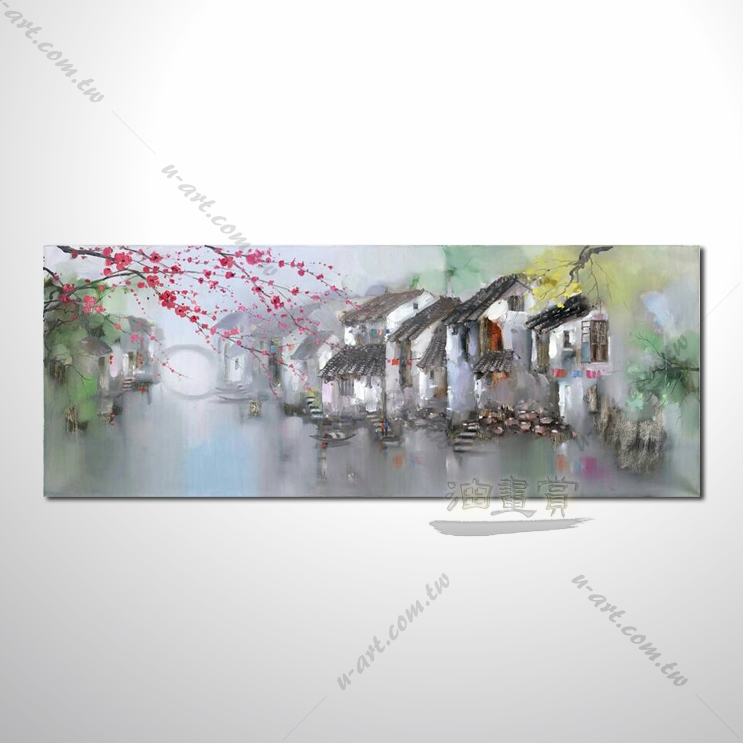 【东方街景风景画】037 名家推荐,提供客制化临摹 风水开运招财等创作