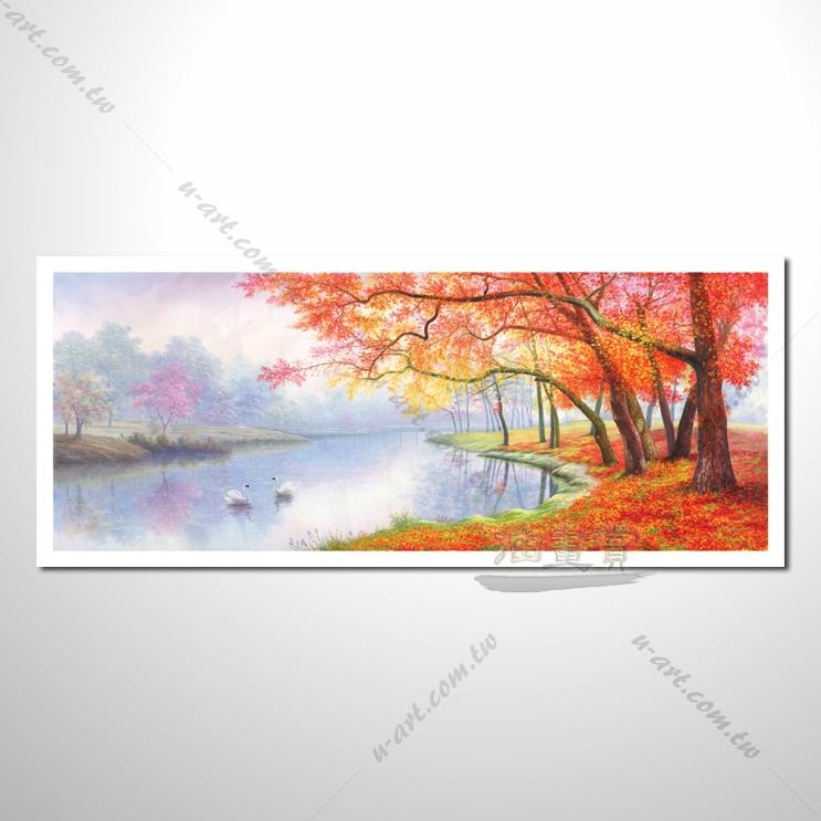 【四季山林风景画】013 风景油画 油画 装饰品 艺术品