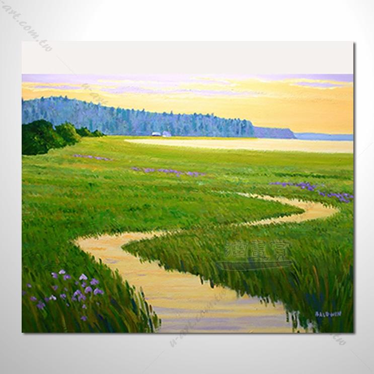 【花田景色风景油画】042 香气 乡村风景画 欧式印象油画 纯手绘 油画
