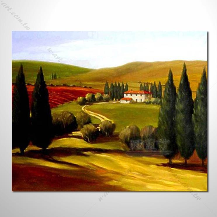 【花田景色风景油画】098 香气 乡村风景画 欧式印象油画 纯手绘 油画