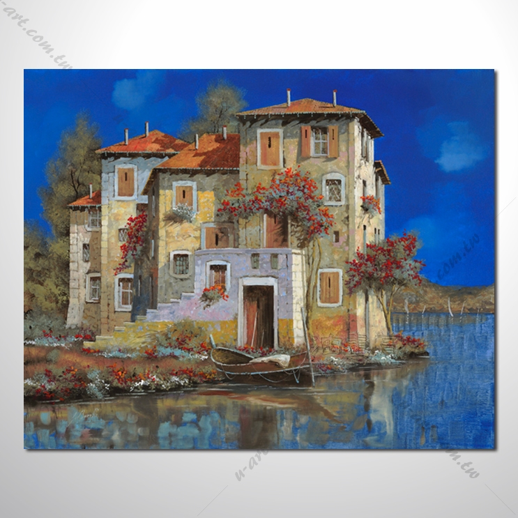 【地中海风景油画】077 欧洲最浪漫的城市 爱情 欧洲风格挂画 品味