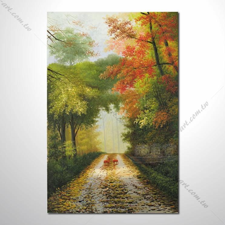 【四季山林风景画】039 风景油画 油画 装饰品 艺术品