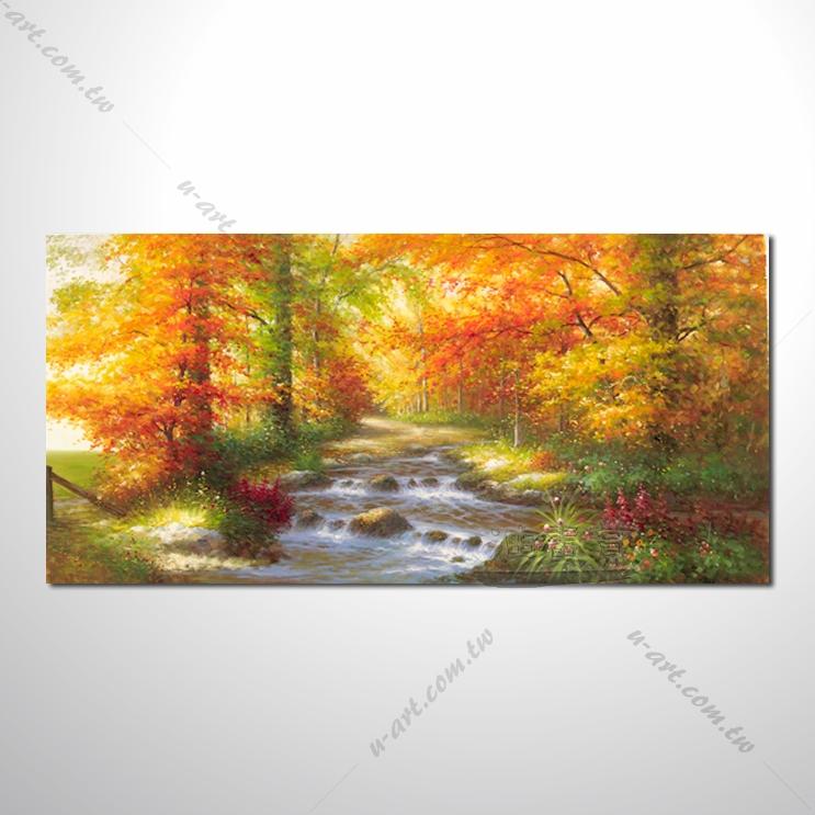 【四季山林风景画】040 风景油画 油画 装饰品 艺术品