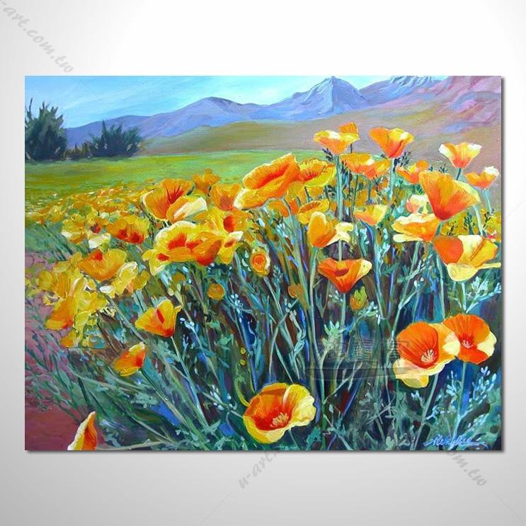 【花田景色风景油画】121 香气 乡村风景画 欧式印象油画 纯手绘 油画