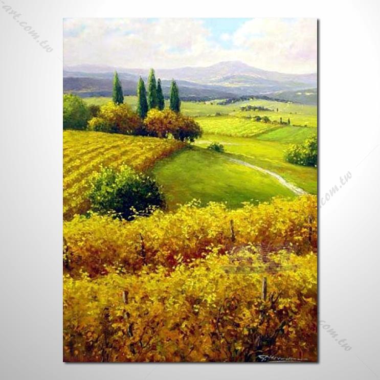 【花田景色风景油画】101 香气 乡村风景画 欧式印象油画 纯手绘 油画
