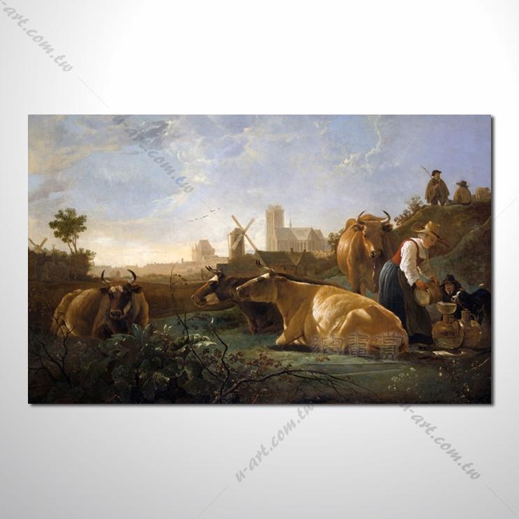动物王国 牛02 油画 装饰品 山水画 艺术
