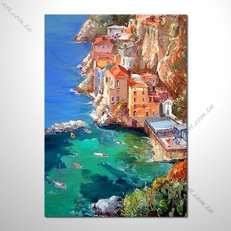 【地中海风景油画】136 欧洲最浪漫的城市 爱情 欧洲风格挂画 品味