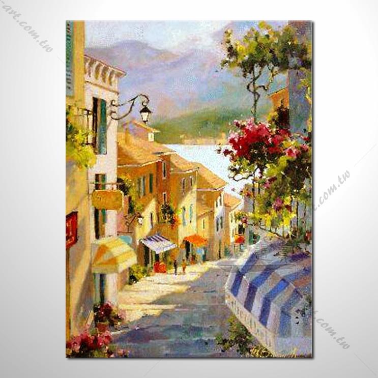 【地中海风景油画】092 欧洲最浪漫的城市 爱情 欧洲风格挂画 品味