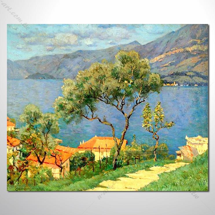 【地中海风景油画】065 欧洲最浪漫的城市 爱情 欧洲风格挂画 品味