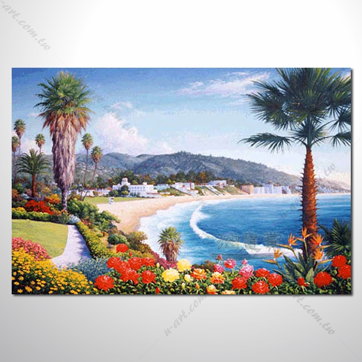 【地中海风景油画】034 欧洲最浪漫的城市 爱情 欧洲风格挂画 品味