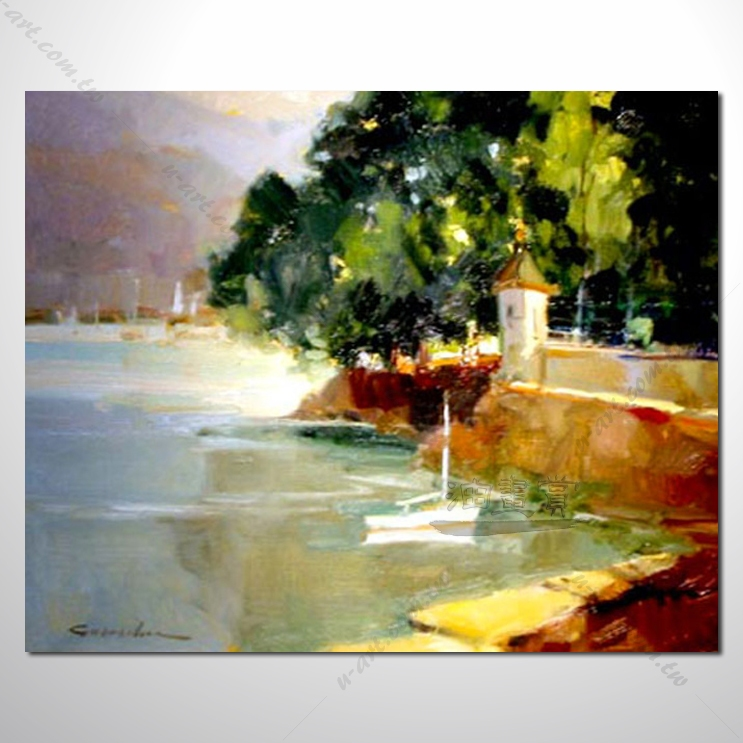 【地中海风景油画】025 欧洲最浪漫的城市 爱情 欧洲风格挂画 品味 设