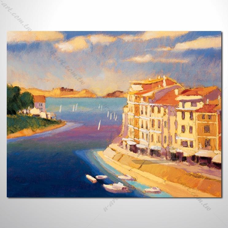 【地中海风景油画】153 欧洲最浪漫的城市 爱情 欧洲风格挂画 品味