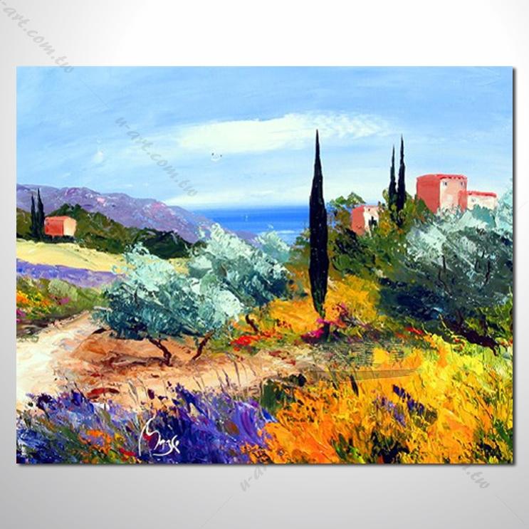 【地中海风景油画】135 欧洲最浪漫的城市 爱情 欧洲风格挂画 品味