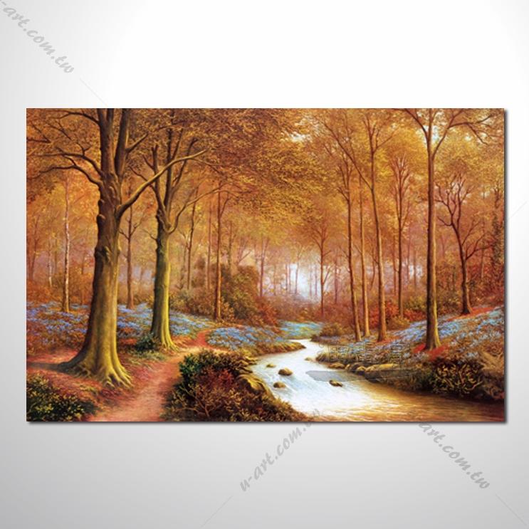 【四季山林风景画】008 风景油画 油画 装饰品 艺术品