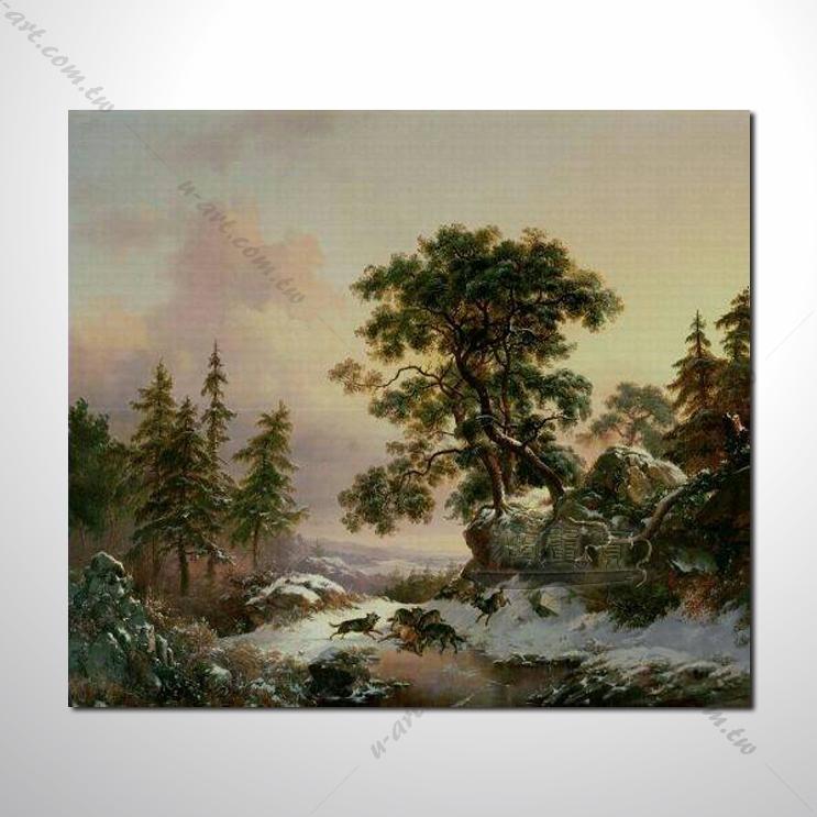 【四季山林风景画】005 风景油画 油画 装饰品 艺术品
