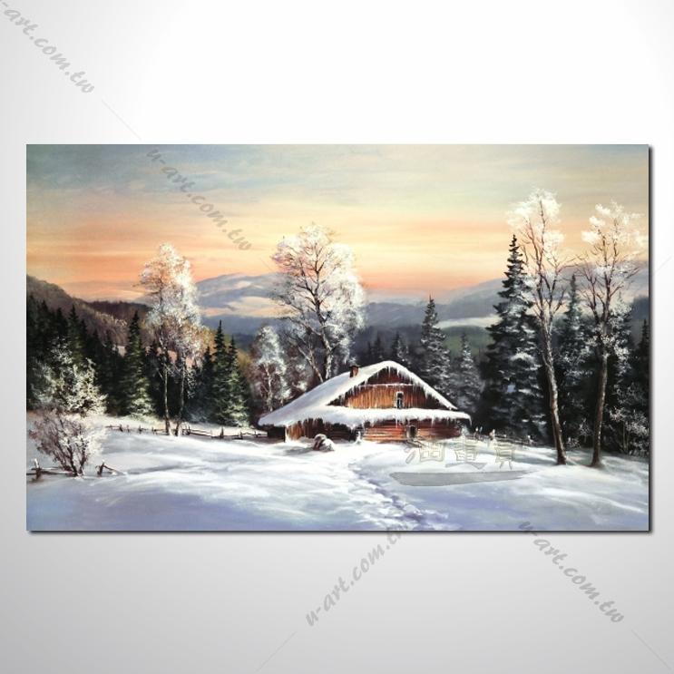 【四季山林风景画】031 风景油画 油画 装饰品 艺术品