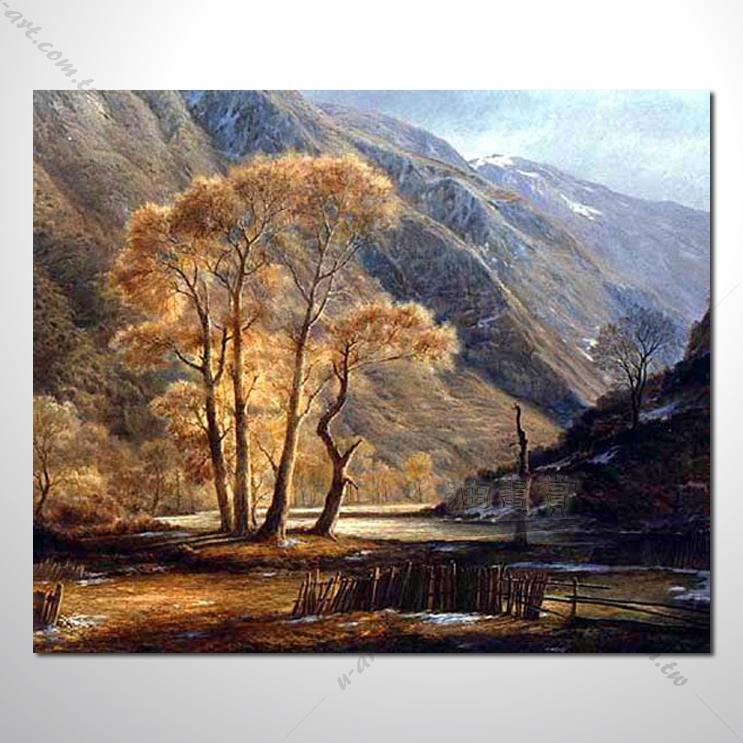 【四季山林风景画】065 风景油画 油画 装饰品 艺术品