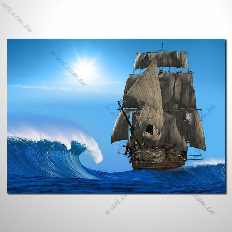 希腊船景27 风景 油画 装饰品 山水画 艺术
