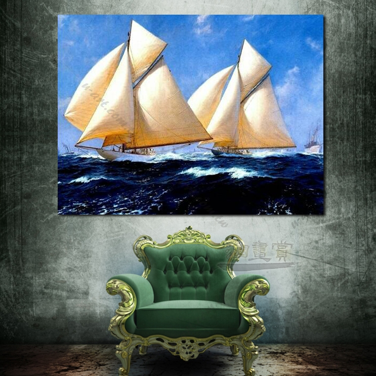 希腊船景47 风景 油画 装饰品 山水画 艺术