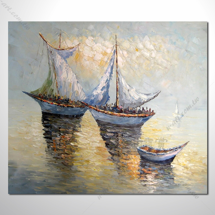 【海景装饰风景画】025 纯手绘 油画 艺术画 浪漫 沙滩 海湾 海浪