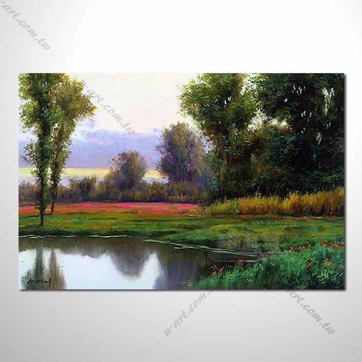 【花田景色风景油画】082 香气 乡村风景画 欧式印象油画 纯手绘 油画
