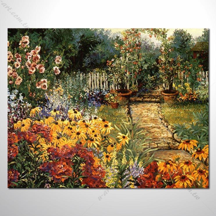 【花田景色风景油画】009 香气 乡村风景画 欧式印象油画 纯手绘 油画