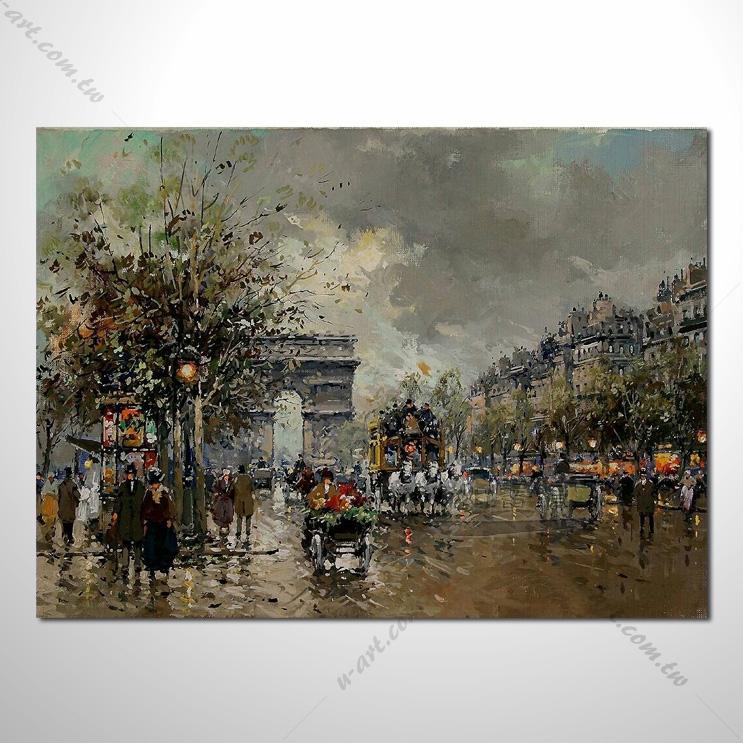 【街景风景画】027 风景油画 装饰品 艺术气息 买画 放画 挂画
