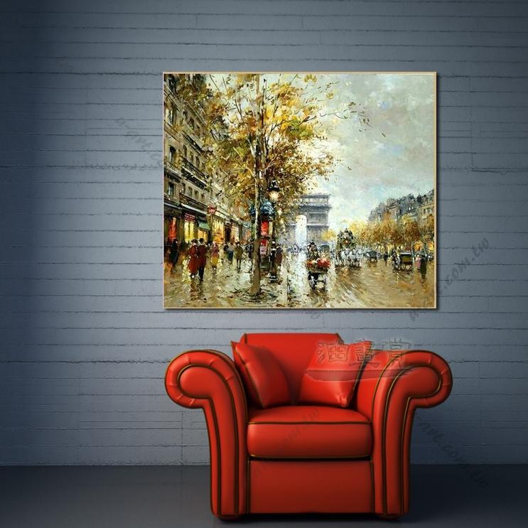 【街景风景画】048 风景油画 装饰品 艺术气息 买画 放画 挂画