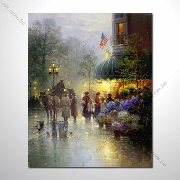 【街景风景画】038 风景油画 装饰品 艺术气息 买画 放画 挂画