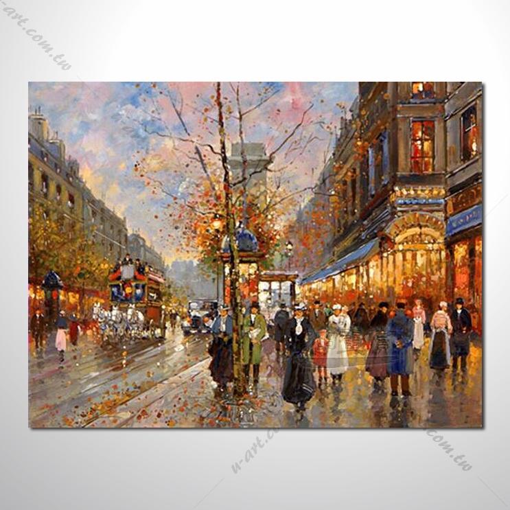 【街景风景画】021 风景油画 装饰品 艺术气息 买画 放画 挂画
