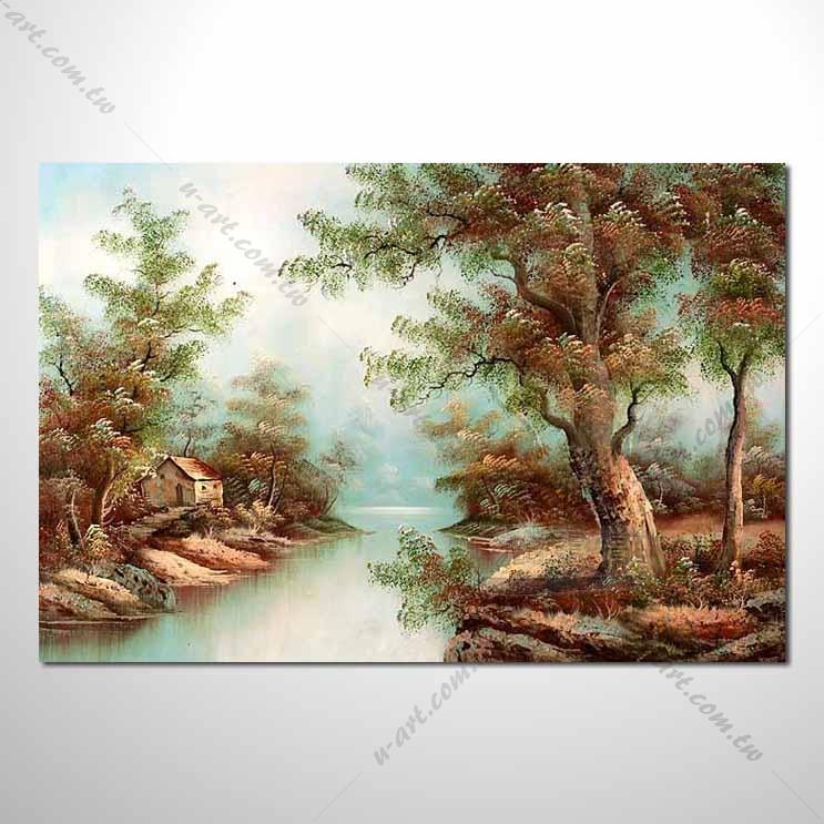 【四季山林风景画】055 风景油画 油画 装饰品 艺术品