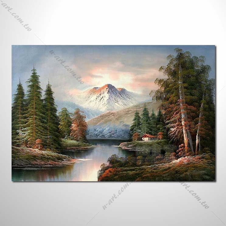 【四季山林风景画】001 风景油画 油画 装饰品 艺术品