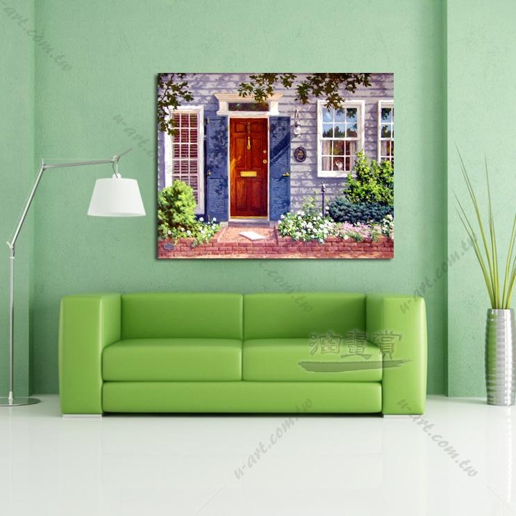 【窗外风景油画】040 装饰品 风情画 浪漫 欧洲风格 爱情 艺术气息