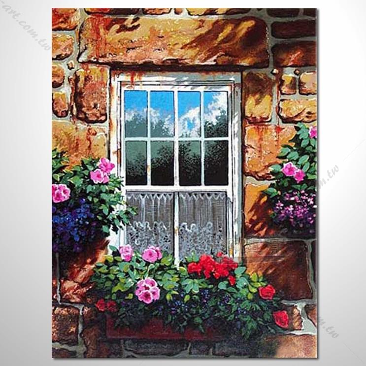 【窗外风景油画】033 装饰品 风情画 浪漫 欧洲风格 爱情 艺术气息