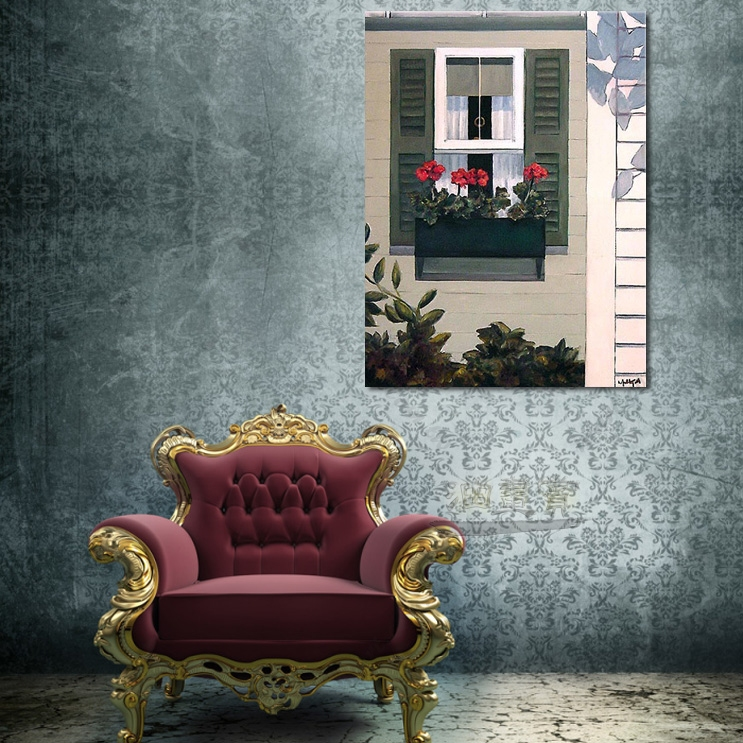 【窗外风景油画】030 装饰品 风情画 浪漫 欧洲风格 爱情 艺术气息