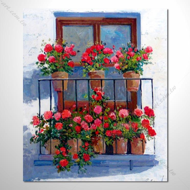 【窗外风景油画】028 装饰品 风情画 浪漫 欧洲风格 爱情 艺术气息