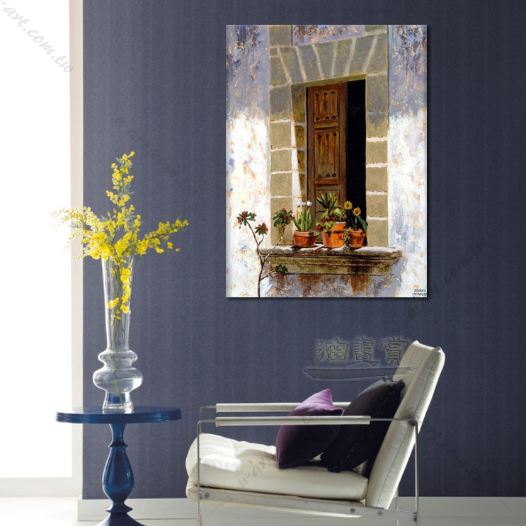 【窗外风景油画】026 装饰品 风情画 浪漫 欧洲风格 爱情 艺术气息