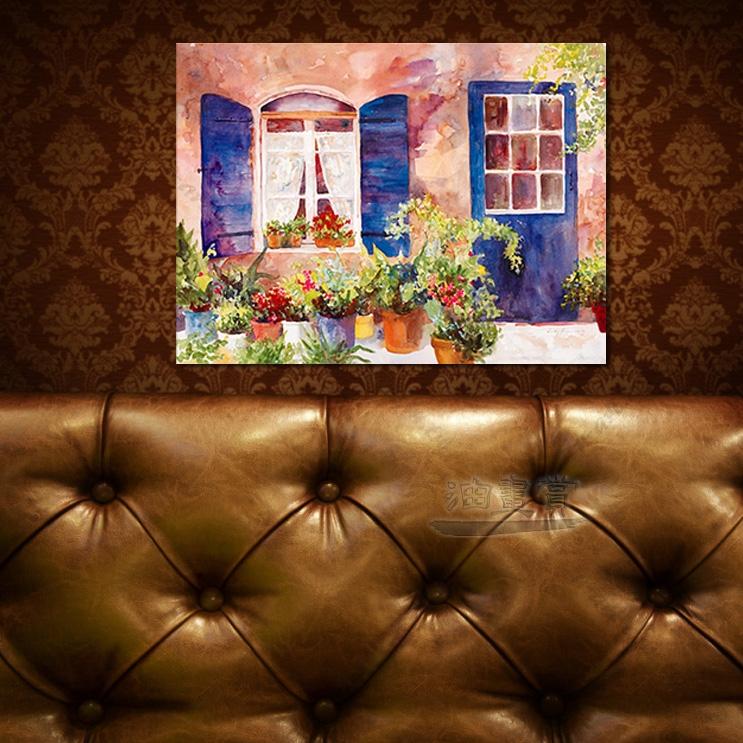 【窗外风景油画】021 装饰品 风情画 浪漫 欧洲风格 爱情 艺术气息