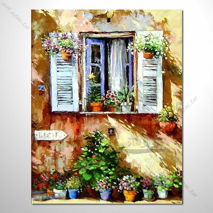 【窗外风景油画】008 装饰品 风情画 浪漫 欧洲风格 爱情 艺术气息