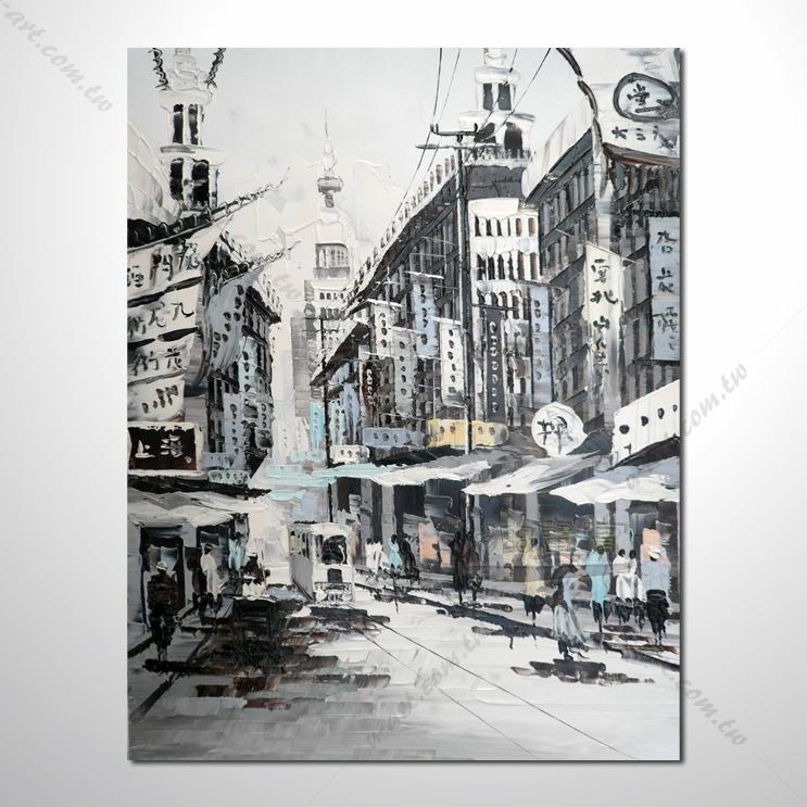 首页 总分类 游云山水 城市之美 街景 【香港上海街景油画】014 风景