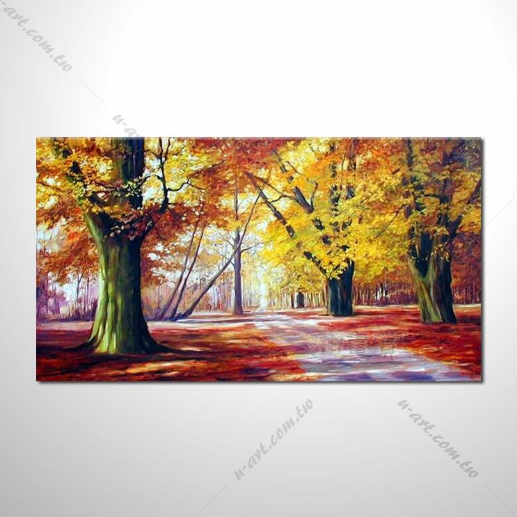 【四季山林风景画】048 风景油画 油画 装饰品 艺术品