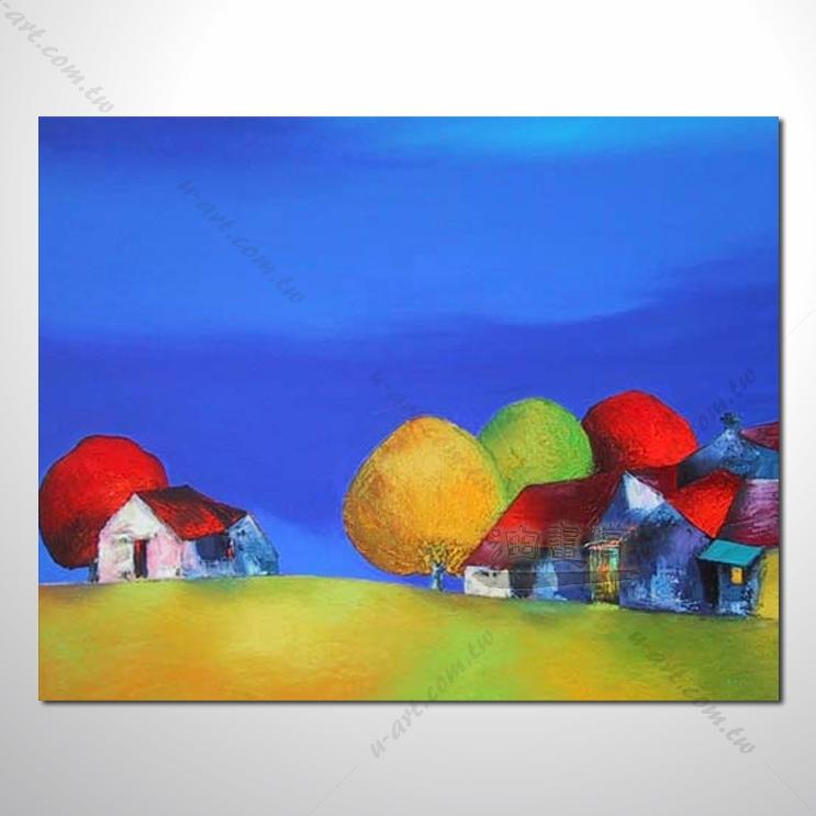 【海景装饰风景画】011 纯手绘 油画 越南景 艺术画 对比色彩鲜明