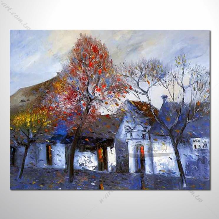 【海景装饰风景画】008 纯手绘 油画 越南景 艺术画 对比色彩鲜明