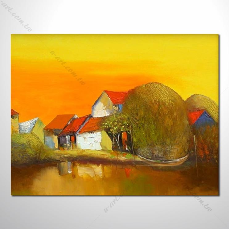 【海景装饰风景画】007 纯手绘 油画 越南景 艺术画 对比色彩鲜明